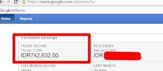 Wow, 8 Bulan Ngeblog Sudah Dapat 700rb/hari