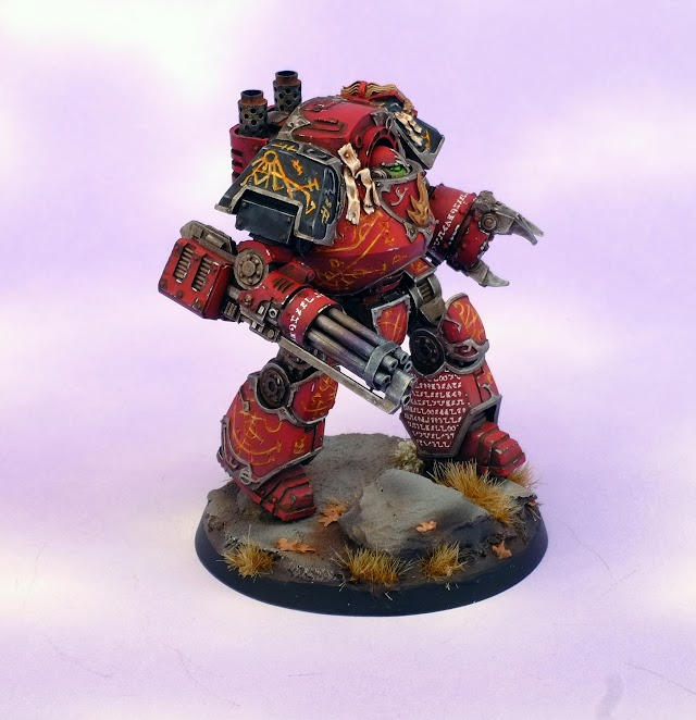 What's On Your Table: Word Bearers Contemptor Dreadnought- Finished