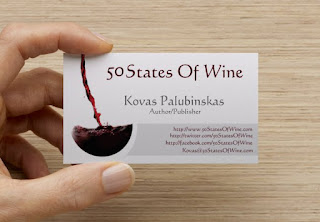 50 States Of Wine business card