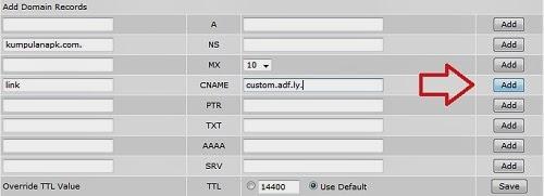 Cara Menambahkan Subdomain di Adf.ly