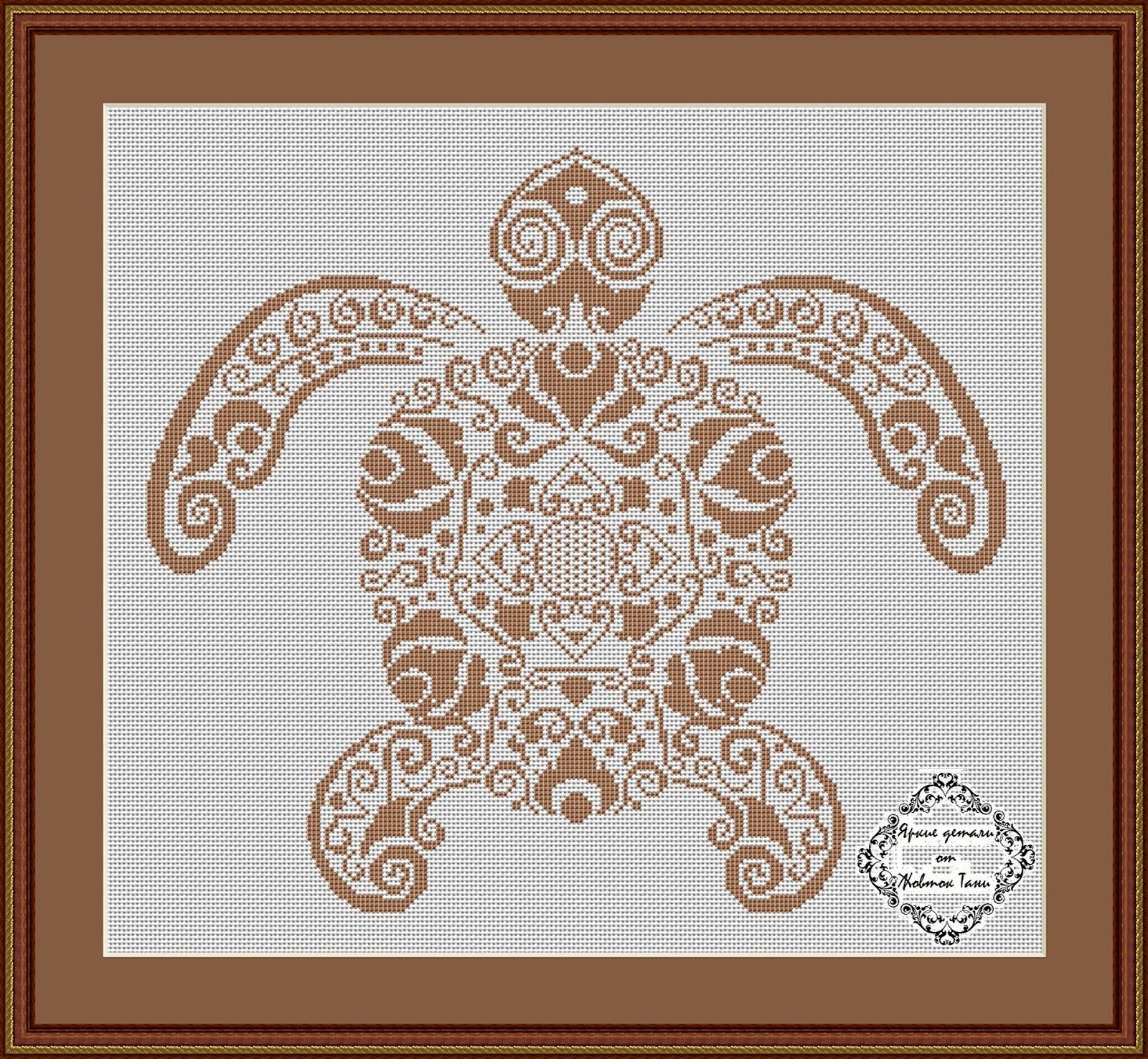 Схемы графической вышивки крестом
