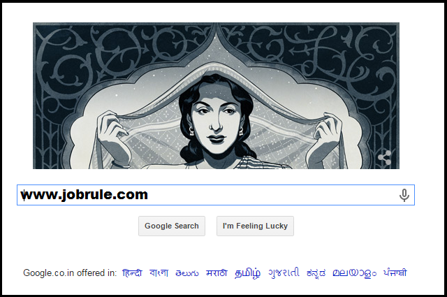 Nargis's 86th Birthday Bull's Eye on Google Doodle (1st June 2015)