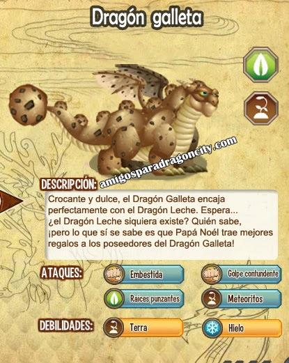 imagen de las caracteristicas del dragon galleta