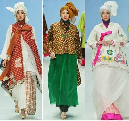 Foto Baju Muslim Gaya Hanbok Korea Desain Terbaru