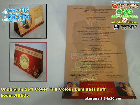 Undangan Soft Cover Full Colour Laminasi Doff
