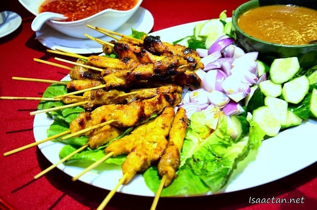 "Just had to snap this nice ""finger food"" last night, love satay to bits."