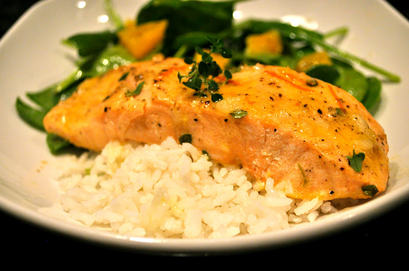 One Classy Dish: Roasted Salmon with Orange Thyme Vinaigrette