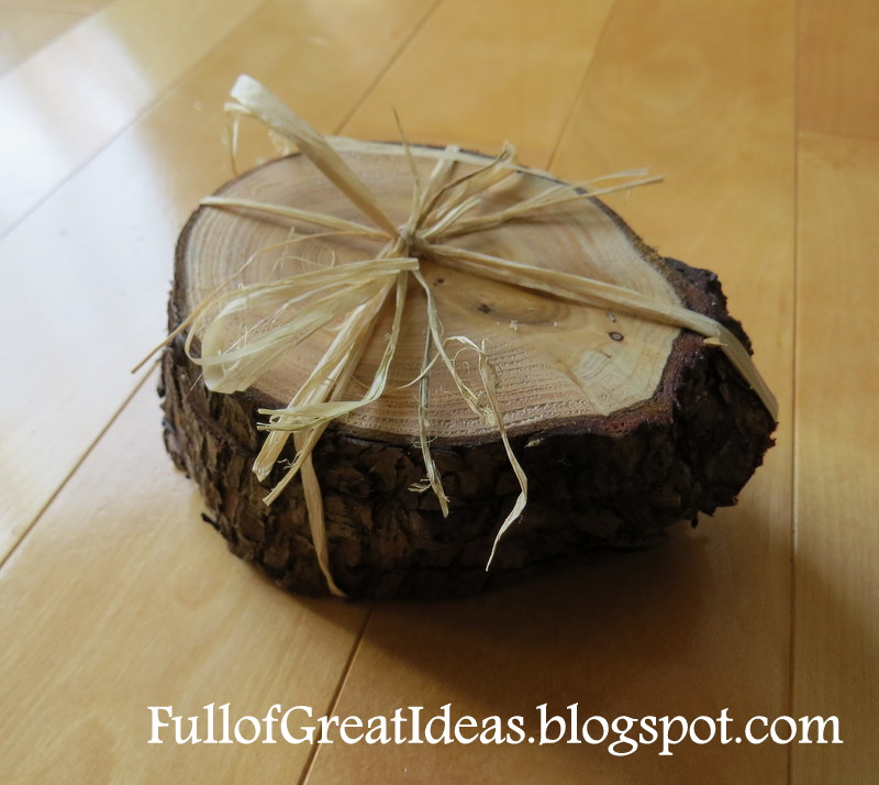 Full of great ideas diy tree stump coasters