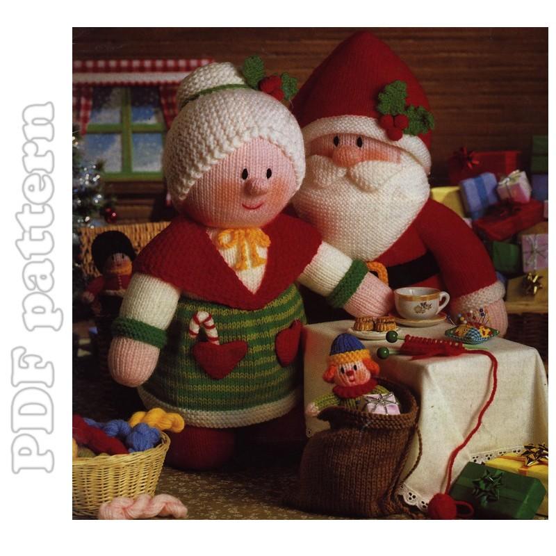 Santa Mrs Claus And 7 Little Dolls Knitting Pattern Pdf