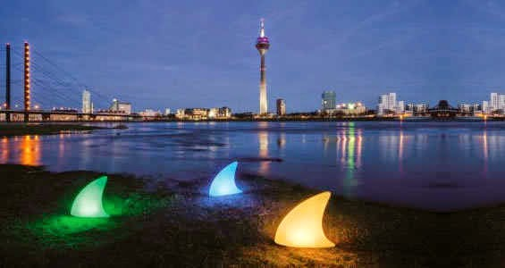 lampe exterieur shark aileron de requin