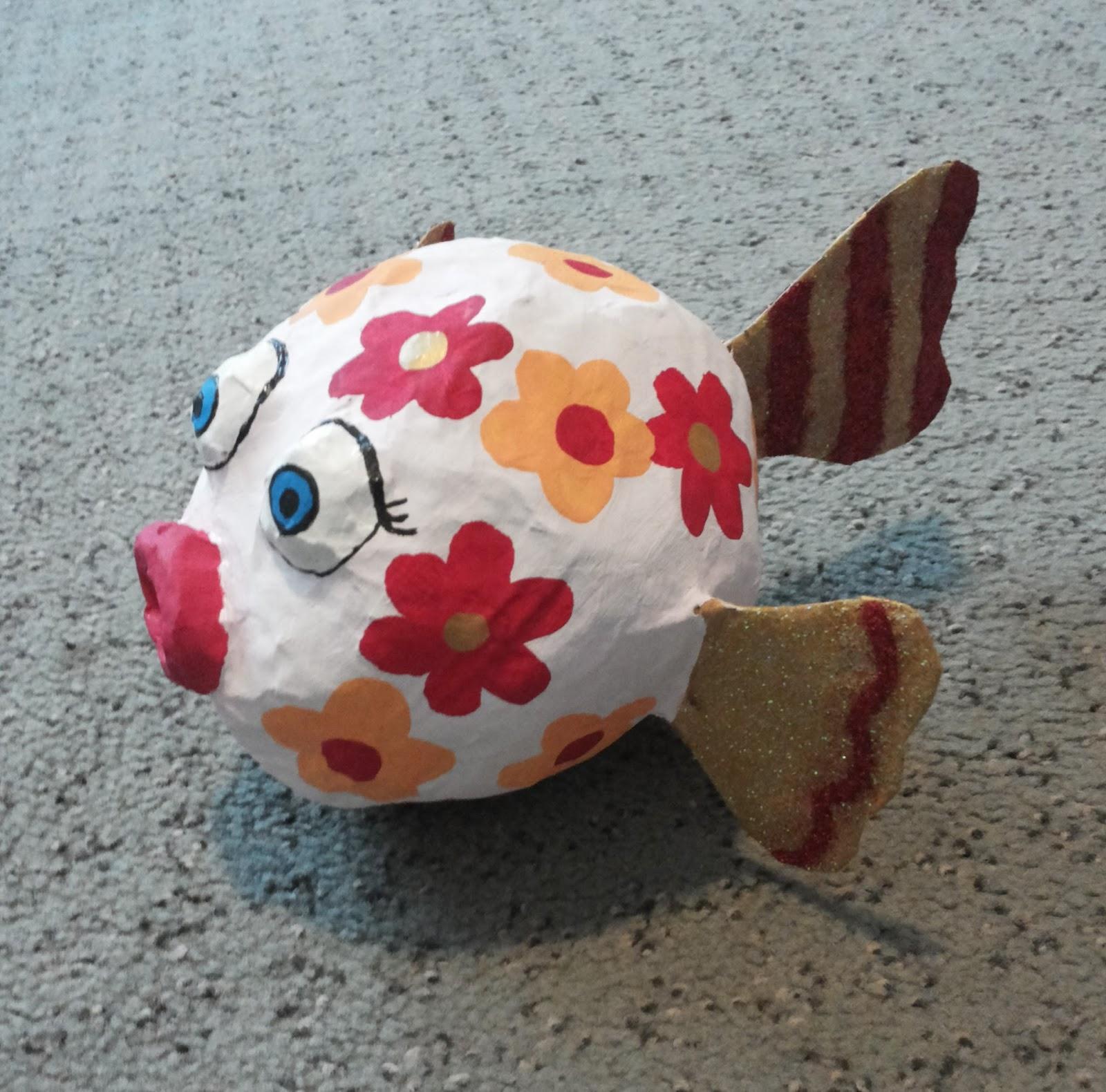 Kugelfisch basteln dansenfeesten - Fische basteln aus papier ...