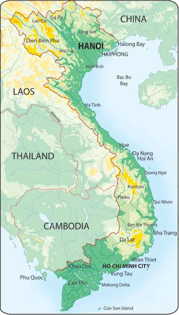 Vietnam Map Political Regional