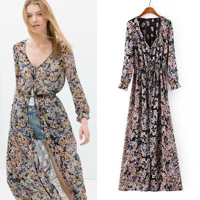 Model Cardigan Kimono Motif Panjang