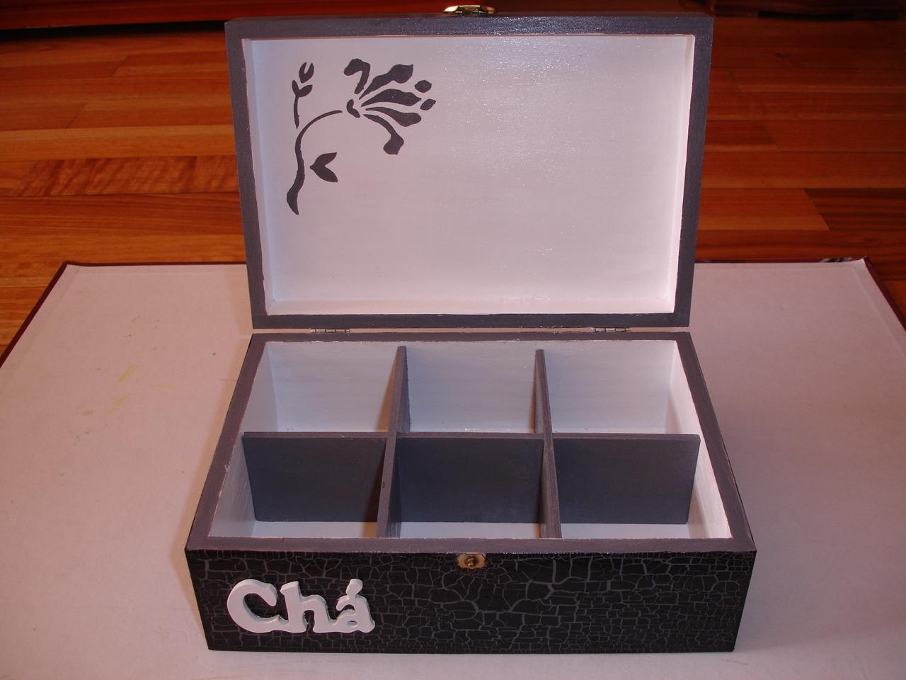 Prendinhas da Ana: Caixa de Chá pintada à mão #772912 1280x960