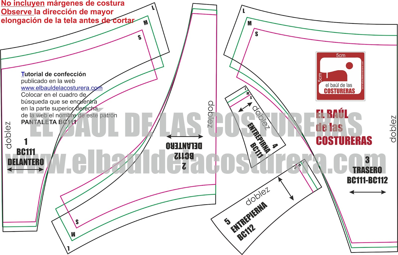 Lenceria De Baño Paso A Paso:Molde de costura ropa interior de mujer