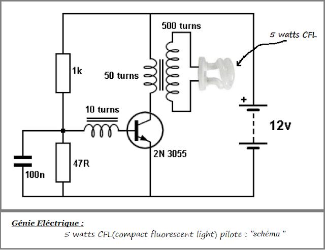 5 watts cfl compact fluorescent light  pilote   g u00e9nie  u00e9lectrique