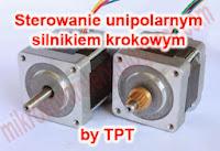 Schemat sterownika unipolarnego silnika krokowego by TPT.