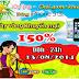 iOnline khuyến mãi ngày vàng 150% 13-08-2014