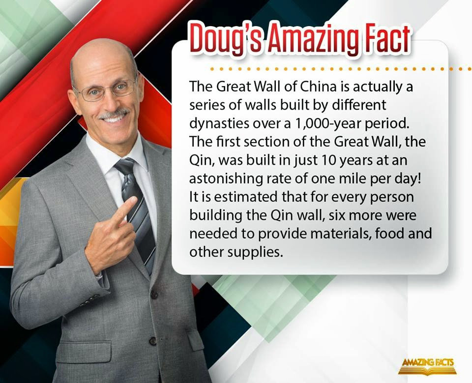 the great wall of china, dough's fact