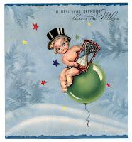 cartões de ano novo e imagens para decoupage