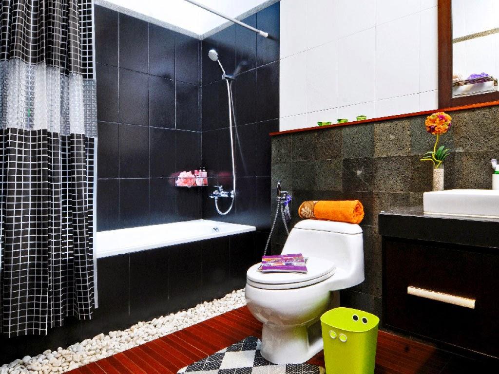 desain kamar mandi minimalis hitam putih   gambar desain rumah minimalis