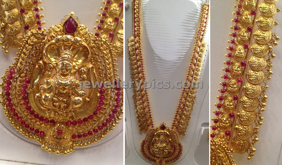 kasulaperu design with lakshmi devi locket