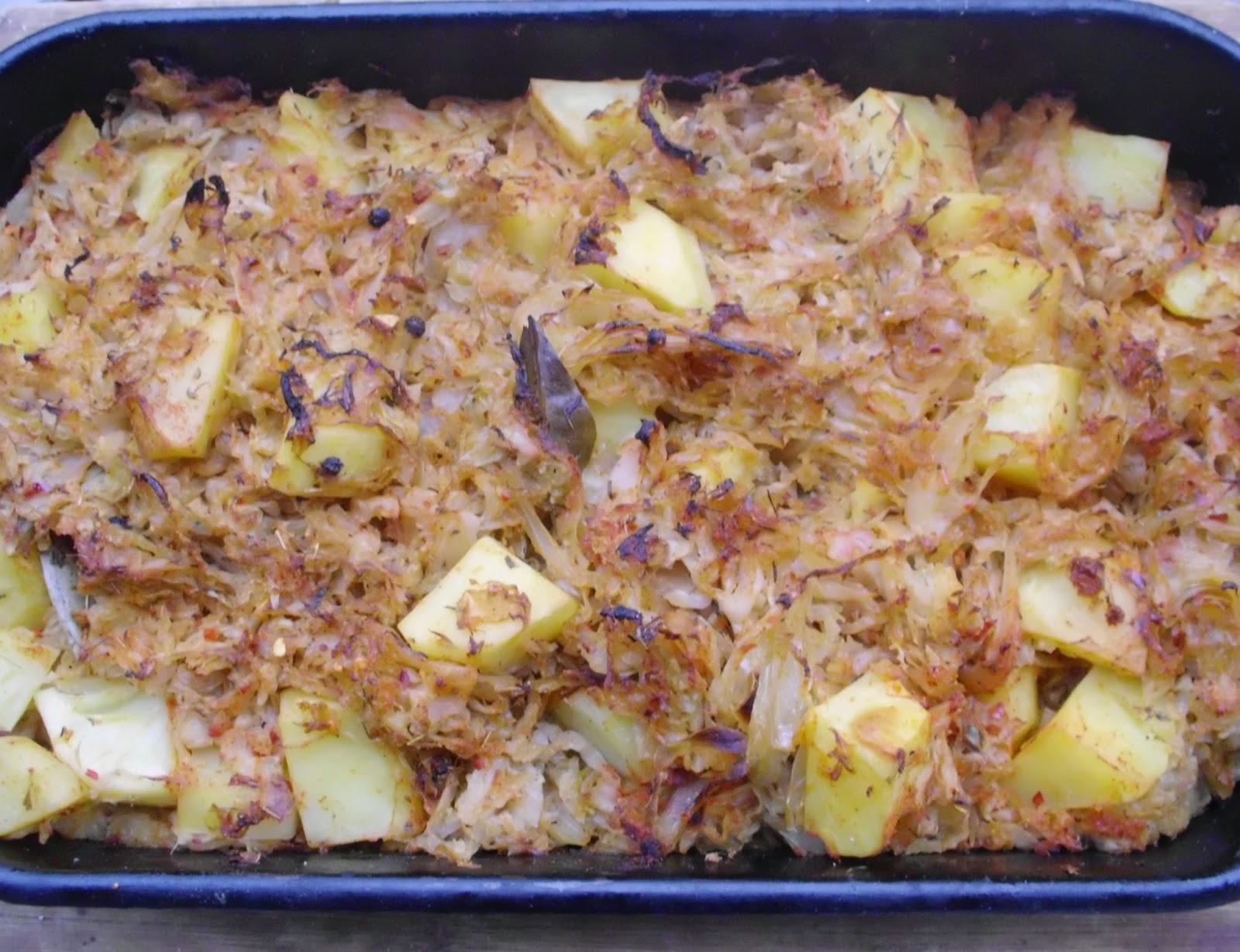 Vegan oven baked sauerkraut