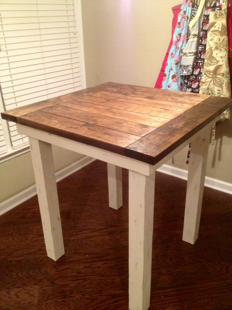 Married filing jointly mfj diy kitchen table - Building kitchen table ...