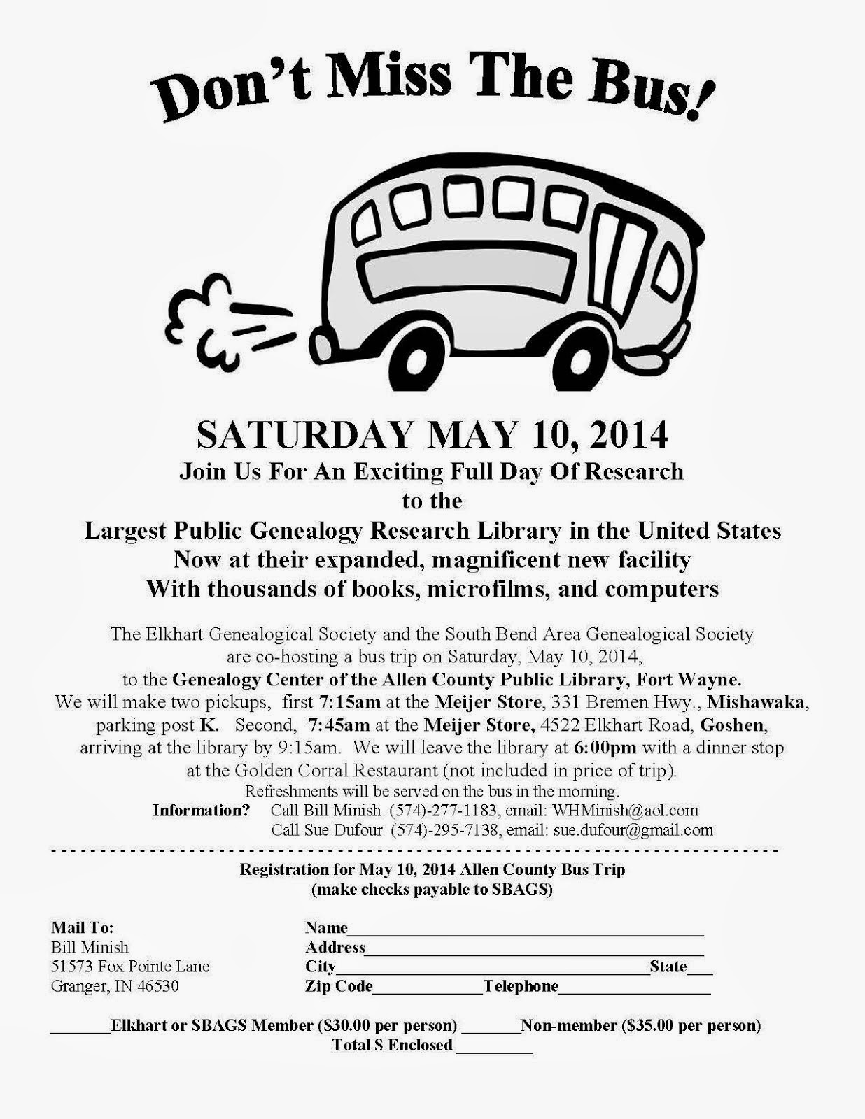 Annual Bus Trip to Allen County Public Library