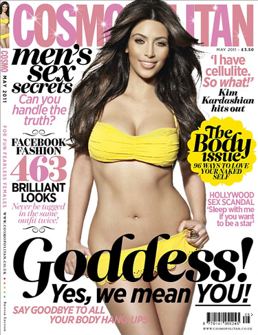 "Kim Kardashian, Is That You On The Cover Of ""COSMO"" UK???"