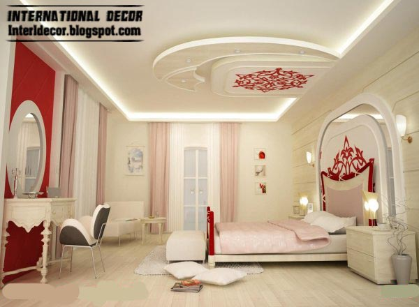 Modern pop false ceiling designs for bedroom interior, gypsum false ...