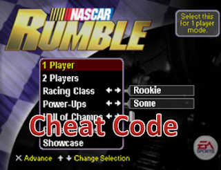 Cheat Code Nascar Rumble Racing PS2