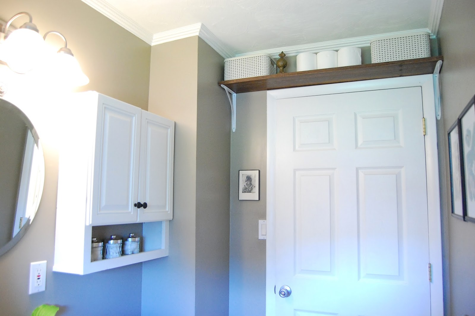 Shelf Above Bathroom Door : My So Called Home Organized Storage In Our  Small Bathroom