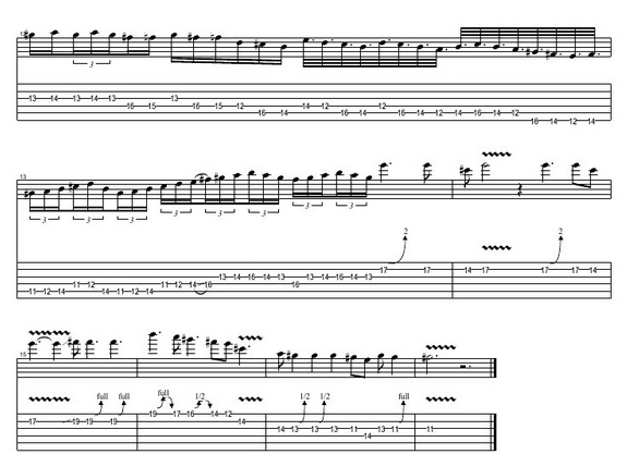 GUITARTABMAKER: TOTO HOLD THE LINE SOLO TAB (COVER BY DAVID ESCOBAR)