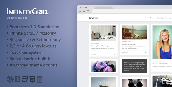 InfinityGrid - Themeforest Personal blogging theme