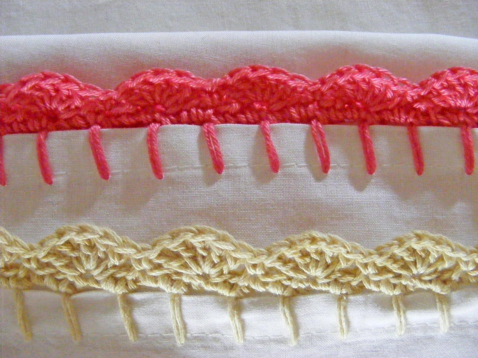 Easy Scalloped Crochet Edging Free Pattern : PATTERN CROCHET SHELL EDGINGS PILLOWCASE