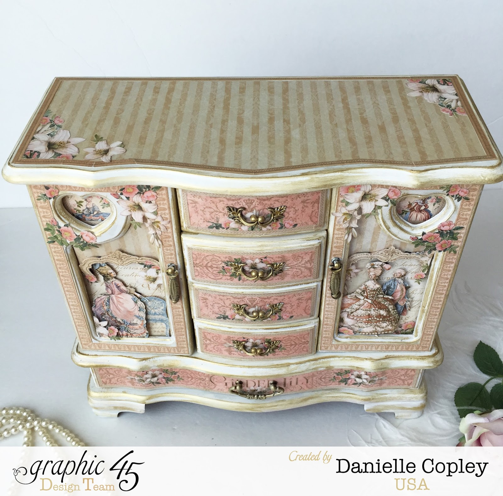 Graphic 45 Gilded Lily Altered Jewelry Armoire Scrapbook Maven