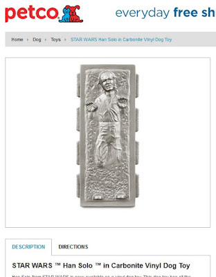 Star Wars dog toys - Han Solo in Carbonite chew toy