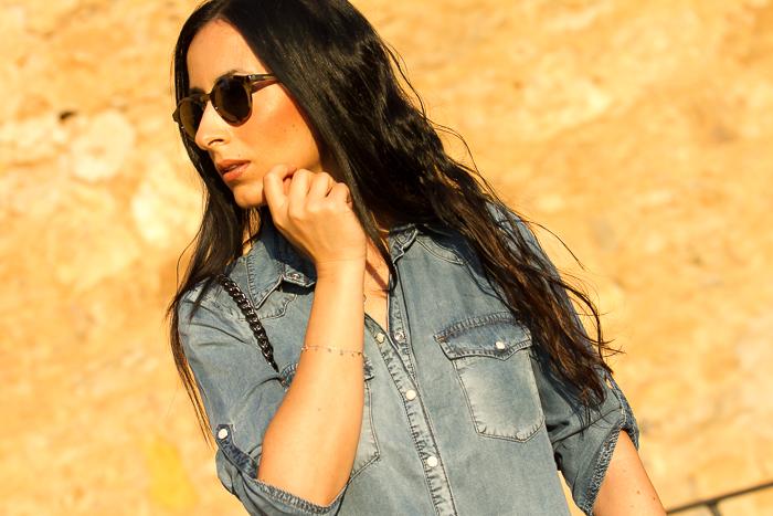 Blogger de Valencia con Vestido vaquero de Nueva Colección de Mango