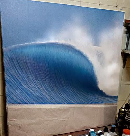 Retoque original wave 1995 - acrílica s/ tela90x90cms