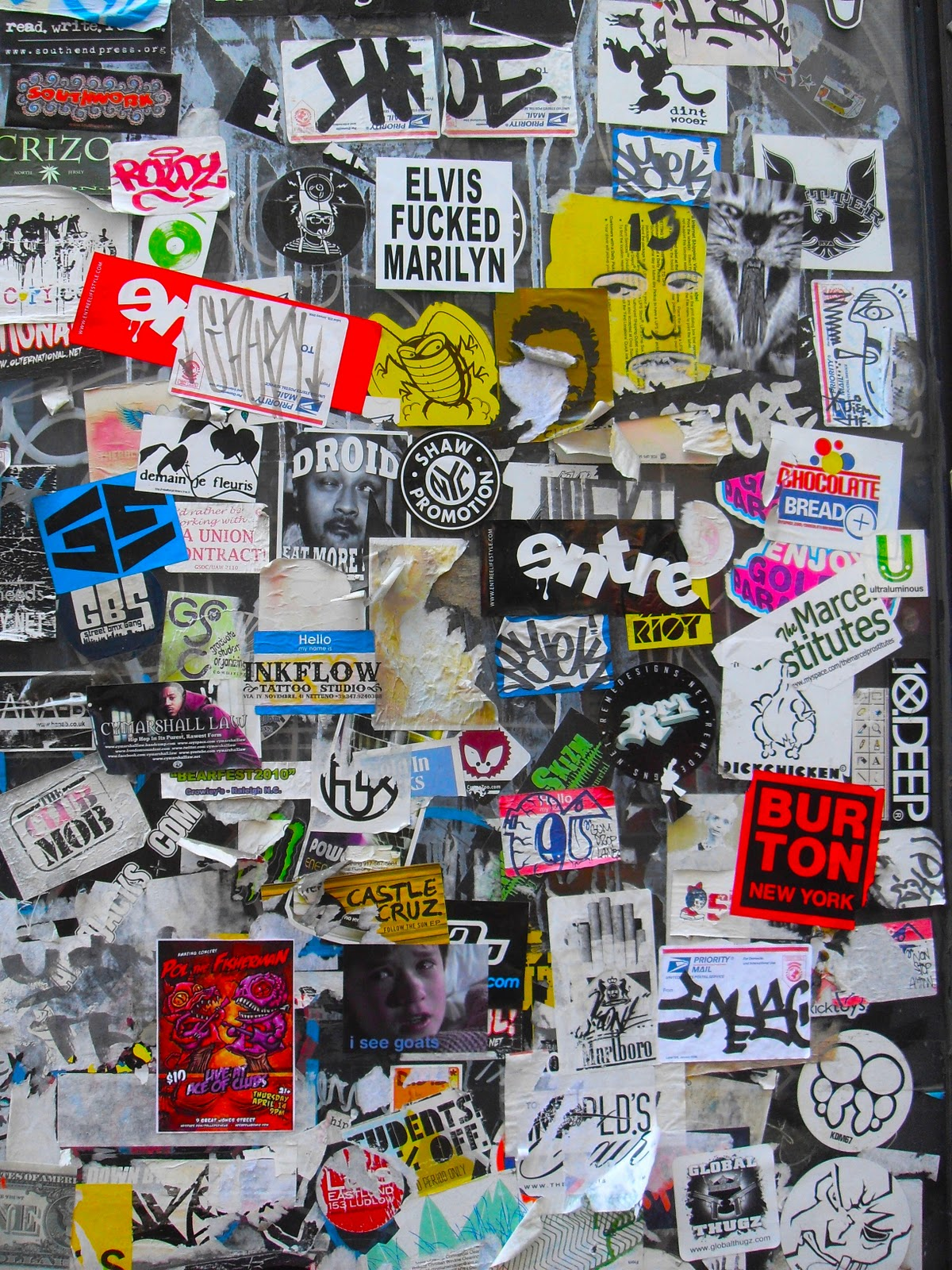 ART SKOOL DAMAGE Christian Montone Stickered On Bleecker