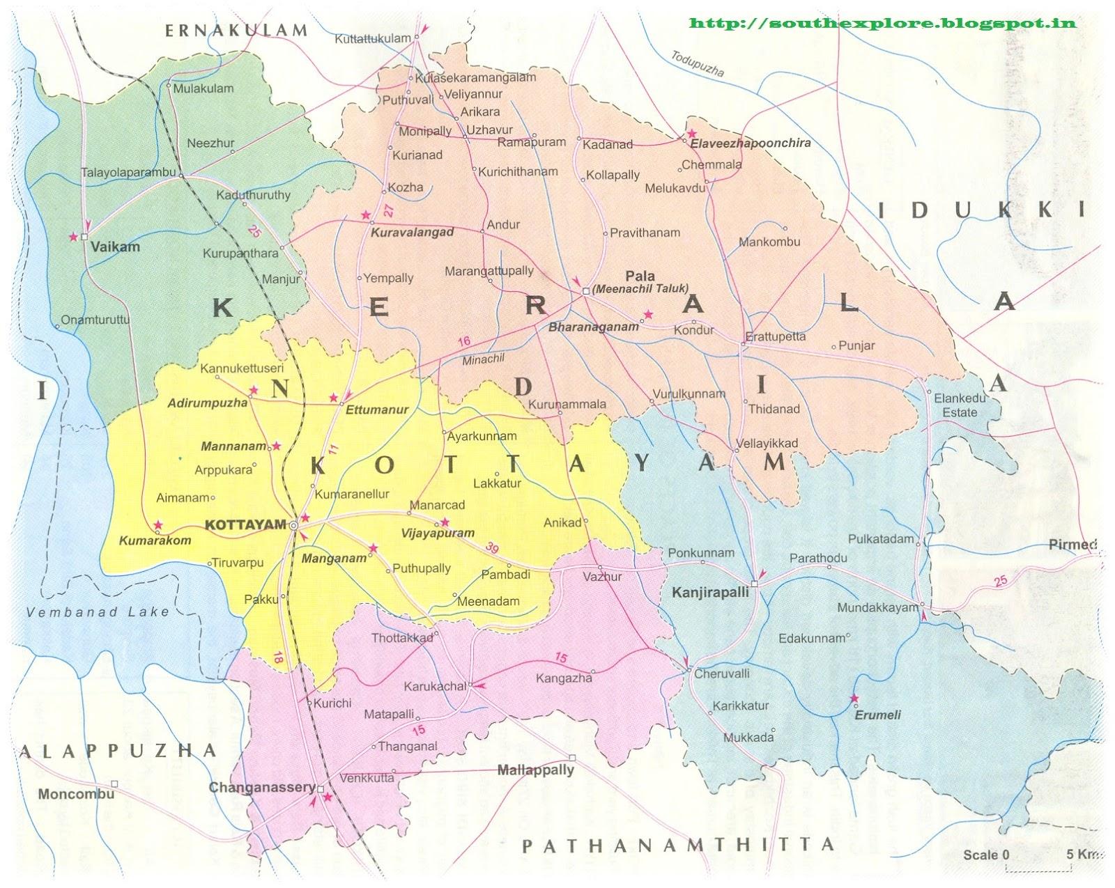 Kottayam India  city pictures gallery : KOTTAYAM TOURISM MAP | TOURIST PLACES IN KOTTAYAM KERALA | KOTTAYAM ...