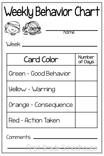 I Also Send Home A Behavior Chart At The End Of Each Week To Communicate To  Parents About Their Childu0027s Behavior At School. I Recently Updated Them And  ...