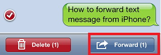 Forward SMS or iMessage on iPhone and iPad