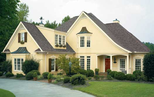 Exterior paint ideas popular home interior design sponge for Best yellow exterior paint color