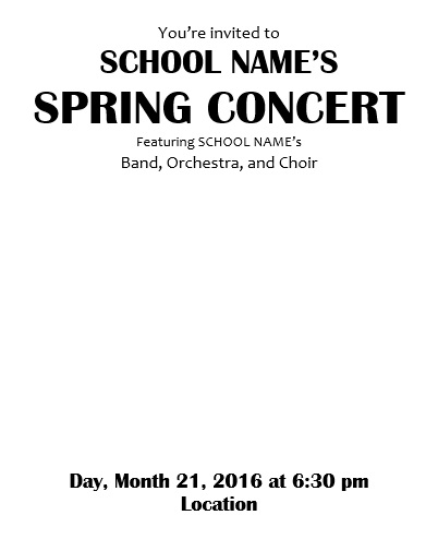 Teaching Elementary Orchestra : Template For A Concert Program And