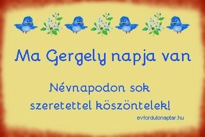Május 9 - Gergely