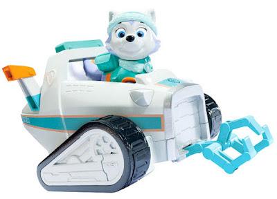TOYS: JUGUETES - Paw Patrol | La Patrulla Canina  Everest & vehículo nieve de rescate | Vehículo + Figura - Muñeco  Everest´s Rescue Snowmobile  Producto Oficial Serie Televisión | Spin Master - Bizak | A partir de 3 años
