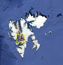 Ilha de Spitsbergen em Svalbard