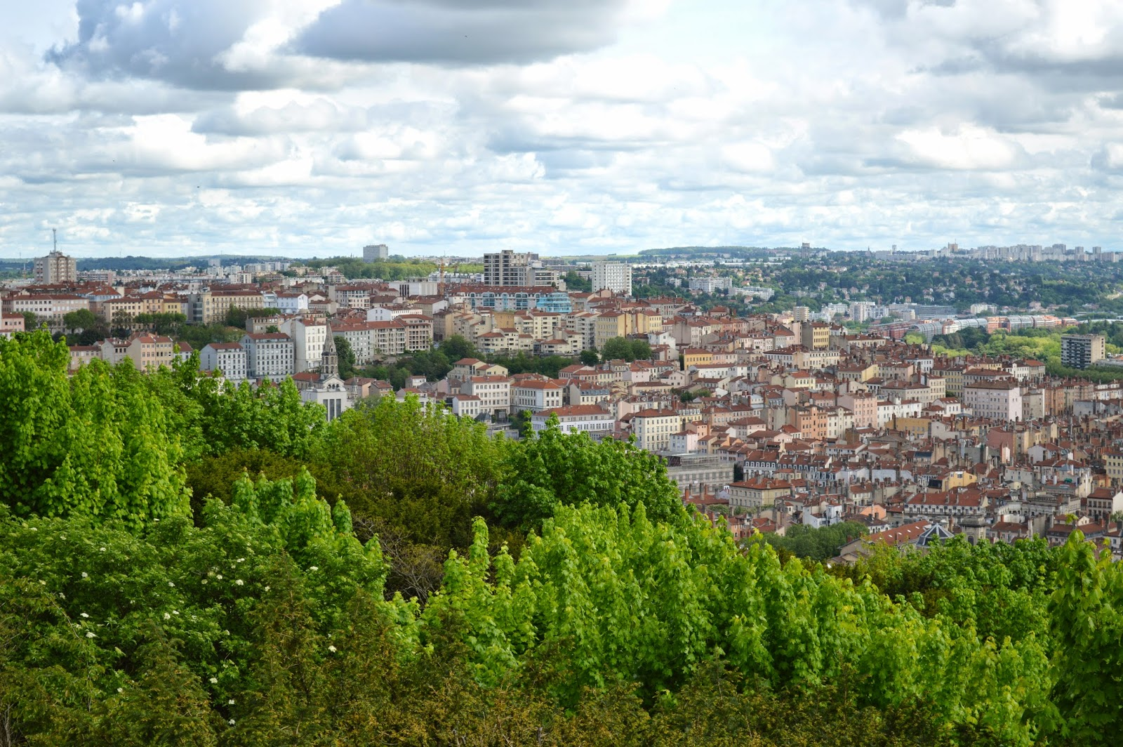 View over Lyon from Fourvière Basilica